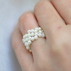 Simple and sweet beaded rng - love it!  @Looksi Square  #thecheesthief