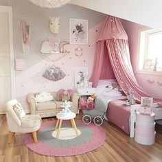 Toddler Girl Bedroom Decor Fun Girls Bedroom Decor Ideas Cute Room Decorating In Pink For Girls Toddler Girl Room Decorating Ideas Diy Unicorn Bedroom, Baby Bedroom, Bedroom Decor, Nursery Decor, Girls Bedroom Pink, 4 Year Old Girl Bedroom, Girl Toddler Bedroom, Master Bedroom, Bedroom Themes