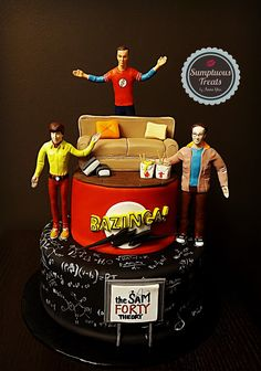 BIG BANG THEORY ~ Custom-Made-To-Order Cakes, Cookies & Cupcakes Edible Art ~ www.sumptuoustreats.com