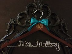 Personalized Bridal / Wedding Hanger - This personalized bridal hanger with burned / engraved wedding monogram makes the perfect addition to your