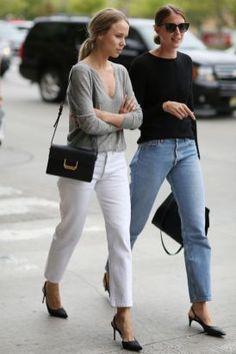 Streetstyle com slingback | Sapato estilo slingback | Calça jeans | Estilo minimalista