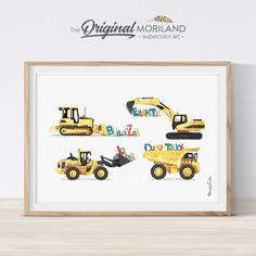 Alphabet Construction Print - Printable Art Toddler Boy Room Decor, Boys Room Decor, Toddler Rooms, Kids Rooms, Car Nursery, Nursery Decor, Nursery Art, Nursery Prints, Wall Prints