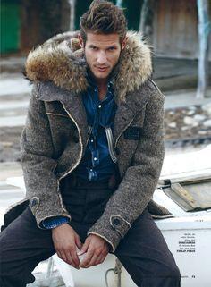 Domenique Melchior for Elle Vietnam - winter fashion