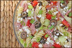 Greek Summer Pasta Salad #RECIPE