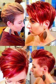 Trendfrisuren in schönen und glänzenden Rottönen! Vielleicht eine schöne Farbe für Dich? - Neue Frisur