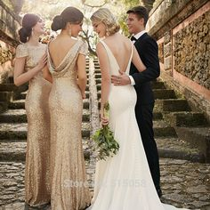 Popular Champagne Gold Bridesmaid Dresses 2015-Buy Cheap Champagne ...