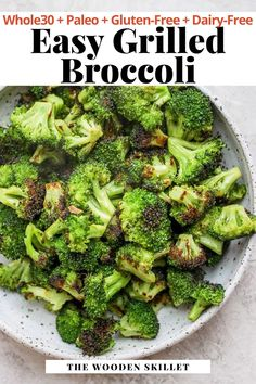 A super simple side dish that you can throw on the grill with just about anything! Learn how easy this grilled side dish is to make with our simple recipe that great for a quick healthy weeknight side. It's Whole30, Paleo, Gluten Free and Dairy Free. #GrilledVeggies #GrilleBroccoli #TheWoodenSkillet Grilled Side Dishes, Veggie Side Dishes, Healthy Side Dishes, Side Dishes Easy, Side Dish Recipes, Grilled Asparagus Recipes, Grilled Broccoli, Healthy Salmon Recipes, Grilled Veggies