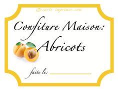 Etiquettes imprimables pour pot de confiture d 39 abricot fait maison gratuites cartes - Confiture d abricots maison ...