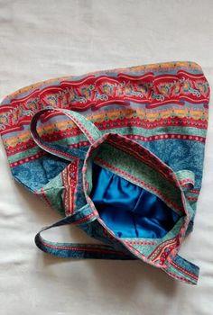 Rozeta handmade, torba kolorowa, torba duża, torba