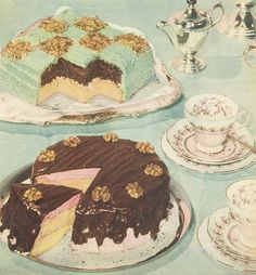 1950s afternoon tea treats   From The Australian Women's Weekly, 22 April 1959