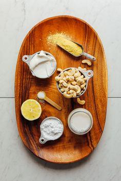 AMAZING Stretchy Vegan Mozzarella Cheese! 7 ingredients, SO stretchy, cheesy, and delicious! #cheese #mozzarella #recipe #vegan #glutenfree #minimalistbaker
