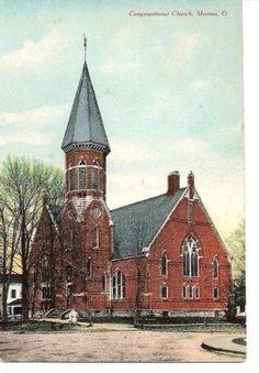 Vintage-Postcard-Medina-Ohio-Congregational-Church