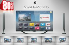 Bundle Smart Tv Mock Up by mockupstore.net on Creative Market