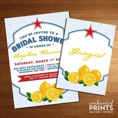 Limonata Collection  Printable Bridal Shower by EnchantedPrints, $18.00