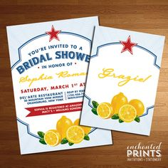 Limonata Collection  Printable Bridal Shower by EnchantedPrints, $18.00