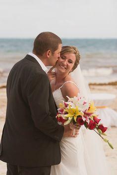 Desi & Matthew's destination wedding in Mexico, Mexico beach wedding, Mexico wedding ideas @destweds