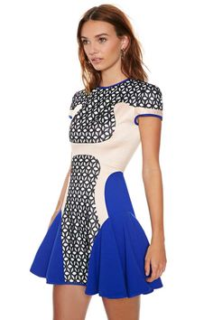 Alice McCall Angel on Wheels Dress - Going Out | Fit-n-Flare | Dresses | Bright and Graphic | Dresses |  | Clothes | Party Perfect