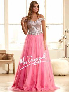 Bubblegum Pink Prom Dress | Sparkle Princess Ball Gown | Mac Duggal 65088H