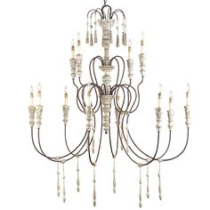 Large French Shabby Chic Chandelier Searching for that perfect centerpiece to add a dramatic lighting element to a favorite room? Look no further!