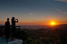 A sunset from Griffith Observatory in Los Angeles during their Summer Solstice event.