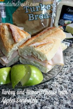 Turkey and Havarti Cheese with Apples Sandwich Recipe #recipes #aldi #inspireothers
