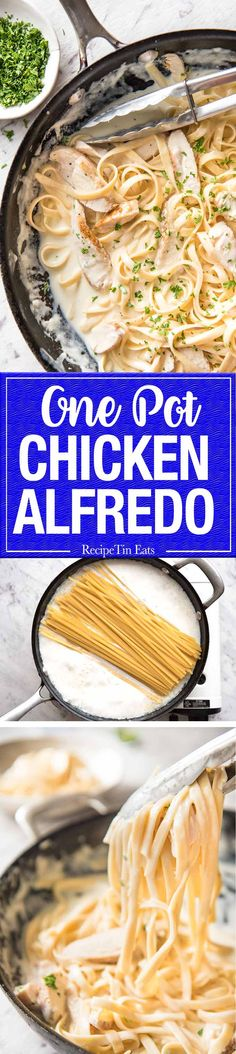 This is not meant to be an authentic Italian pasta. It's a quick mid-week meal that you can get on the table in just over 15 minutes and is stellar for effort vs output. http://www.recipetineats.com/one-pot-chicken-alfredo-pasta