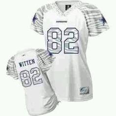 c40809e7661 Reebok Dallas Cowboys Jason Witten Women's Zebra Field Flirt Fashion Jersey  Number 82 - NEED