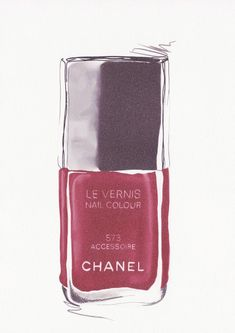 Chanel Nailpolish illustration by RKHercules. Color: accessoire 573