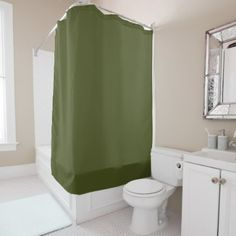 Army Green Shower Curtain  $62.93  by SpookyColors  - cyo customize personalize diy idea