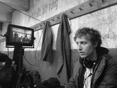 Laszlo Nemes on the set of Son of Saul