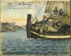 """'Tilbakereisen til Trondhjem med jekten """"Sølivet"""", 16 September 1849'   Flickr"""