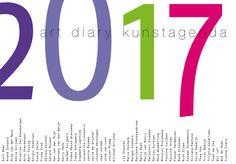 Buitenkant kunstagenda 2017, agenda met 52 zelfportretten van 52 hedendaagse…