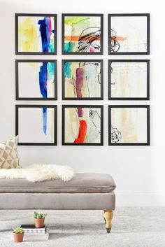 Holly Sharpe Rainbow NEW! Abstract and amazing! Frames On Wall, Framed Wall, Cartoon House, Modern House Design, Printable Wall Art, Wall Murals, Office Decor, Home Accessories, Duvet Covers