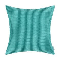 Euphoria CaliTime Cushion Covers Pillows Shell Comfortable Soft Corduroy Corn Striped Teal Color 18 X 18 Inches: Amazon.ca: Home & Kitchen
