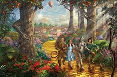 The Wizard of Oz - Follow the Yellow Brick Road - Thomas Kinkade - World-Wide-Art.com