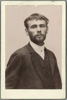 Gustav Klimt in 1887! He was 25 years old!