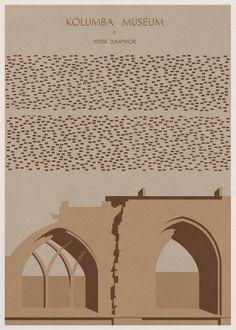 Museus em posters minimalistas | Arquitetura Sustentável