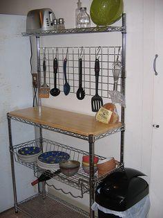 Three Shelf Baker S Rack With Scrolling Designosaic Detail