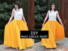 DIY Chiffon Maxi Circle Skirt Sewing Tutorial