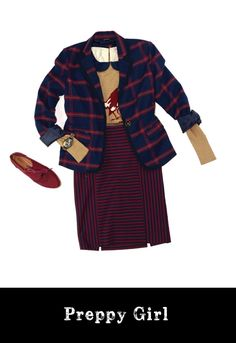 Collegiate chic with a twist. A cute and affordableThanksgiving look by Rodger Figueroa