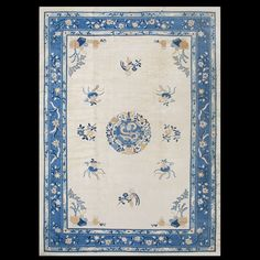 Stock Id: #40-1073    General Rug Type:       Chinese    Specific Rug Type:       Chinese - Peking    Circa: 1880    Color: Ivory    Origin: China    Width: 11' 4'' ( 345.4 cm )    Length: 15' 3'' ( 464.8 cm )