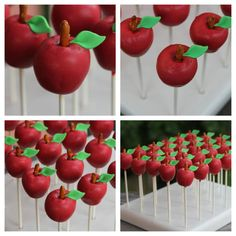 apple cake pops- an apple for the teacher is really nothing new except when you remember parents are teachers too.