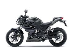 Kawasaki Z300 Review and Price for European Market : Kawasaki Z300 In Metallic Spark Black Color From Side Angle