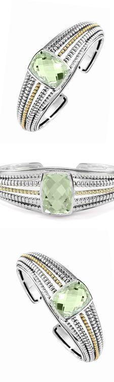 Green amethyst cuff bracelet. LAGOS Jewelry   Prism