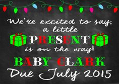 Check out this item in my Etsy shop https://www.etsy.com/listing/214255476/christmas-pregnancy-announcement