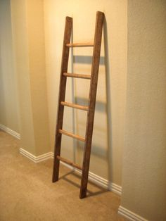 Walnut Distressed Rustic Ladder Repurposed by EdnaFayeCreations, $55.00