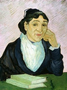 Art of the Day: Van Gogh, L'Arlesienne (Madame Ginoux), February 1890. Oil on canvas, 65 x 49 cm. Kröller-Müller Museum, Otterlo.