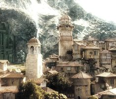 The city of Dale, outside the gates of Erebor, from The Hobbit, An Unexpected Journey.