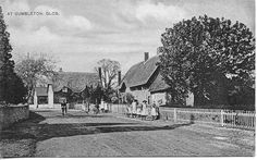 Old pic of the village of Dumbleton, England.  (Main St.)
