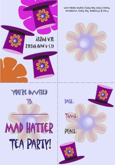 Image detail for -Mad hatter tea party invitations Index of /